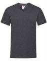 Koszulka t-shirt męska dekolt w serek Fruit of The Loom Valueweight V-Neck F270 Dark Grey Heather.jpg