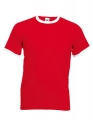 Koszulka t-shirt męska kontrastowa Fruit of The Loom Ringer Tee 61-168-0 Red White.jpg