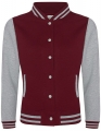 Bluza damska typu College Varsity Jacket burgundy heather grey.jpg