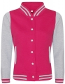 Bluza damska typu College Varsity Jacket hot pink heather grey.jpg