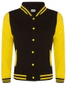 Bluza damska typu College Varsity Jacket jet black sunflower.jpg