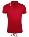 Koszulka polo męska Sol's Men´s Polo Shirt Pasadena 00577 Red White.jpg