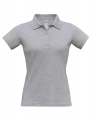 Koszulka polo damska Polo Safran Pure Women PW455 Heather Grey.jpg
