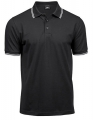 Koszulka polo męska Luxury Stripe Stretch Polo 1407 Black White.jpg