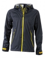 Męski Softshell James Nicholson Outdoor Jacket JN1098 Iron Grey Yellow.jpg