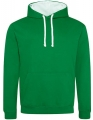 Bluza reklamowa z kapturem Just Hoods Varsity Hoodie JH003 Kelly Green Artic White.jpg