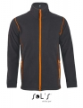 Polar męski Sol's Micro Fleece Zipped Jacket Nova Men 00586 Charcoal Grey Solid Orange.jpg