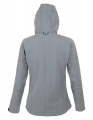 Damski Softshell Sol's Hooded Jacket Replay 46802 Grey MelangeB.jpg