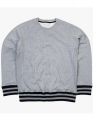 Bluza firmowa z paskami Mantis Striped Superstar M76S Heather Grey Melange Black.jpg
