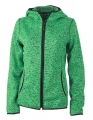Damska bluza polarowa James Nicholson Knitted Fleece Green Melange Black.jpg
