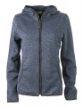 Damska bluza polarowa James Nicholson Knitted Fleece Denim Melange.jpg