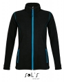 Polar damski Sol's Micro Fleece Zipped Jacket Nova Women 00587 Black Aqua.jpg