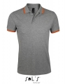 Koszulka polo męska Sol's Men´s Polo Shirt Pasadena 00577 Grey Melange Orange.jpg