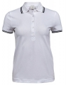 Koszulka polo damska Ladies Luxury Stripe Stretch Polo 1408 White Navy.jpg