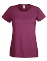 Koszulka t-shirt damska Fruit of The Loom Valueweight T Lady-Fit 61-372-0 Burgundy.jpg