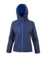 Damski Softshell Result TX Performance Hooded R230F Navy Royal.jpg