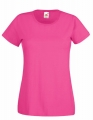 Koszulka t-shirt damska Fruit of The Loom Valueweight T Lady-Fit 61-372-0 Fuchsia.jpg