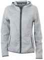 Damska bluza polarowa James Nicholson Knitted Fleece Light Melange Carbon.jpg
