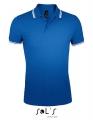 Koszulka polo męska Sol's Men´s Polo Shirt Pasadena 00577 Royal Blue White.jpg