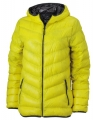 Kurtka puchowa damska James Nicholson Men's Down Jacket JN 1059 Yellow Carbon.jpg