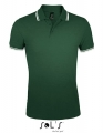 Koszulka polo męska Sol's Men´s Polo Shirt Pasadena 00577 Forest Green White.jpg