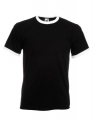 Koszulka t-shirt męska kontrastowa Fruit of The Loom Ringer Tee 61-168-0 Black White.jpg