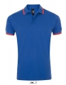 Koszulka polo męska Sol's Men´s Polo Shirt Pasadena 00577 Royal Blue Neon Coral.jpg