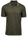 Koszulka polo męska Luxury Stripe Stretch Polo 1407 Olive White.jpg