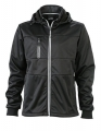 Męski Softshell James Nicholson Maritime Jacket JN1078 Black Black White.jpg