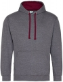 Bluza reklamowa z kapturem Just Hoods Varsity Hoodie JH003 Charcoal Heather Burgundy.jpg