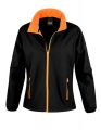 Damski Softshell Result Printable Soft Shell Jacket R231F Black Orange.jpg