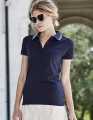 Koszulka polo damska Ladies Luxury Stripe Stretch Polo 1408.jpg