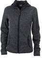 Damska bluza polarowa James Nicholson Knitted Fleece Dark Melange Black.jpg