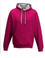 Bluza reklamowa z kapturem Just Hoods Varsity Hoodie JH003 Hot Pink Heather Grey.jpg