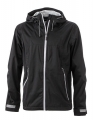 Męski Softshell James Nicholson Outdoor Jacket JN1098 Black Silver Solid.jpg