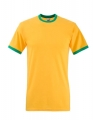 Koszulka t-shirt męska kontrastowa Fruit of The Loom Ringer Tee 61-168-0 Sunflower Kelly Green.jpg