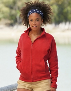 Polar damski Fruit of the Loom Full-Zip Fleece Lady-Fit