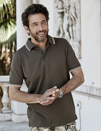 Koszulka polo męska Luxury Stripe Stretch Polo 1407.jpg