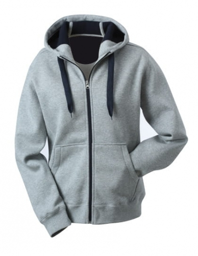 Męska bluza z kapturem James Nicholson Doubleface Sports Grey Navy.jpg
