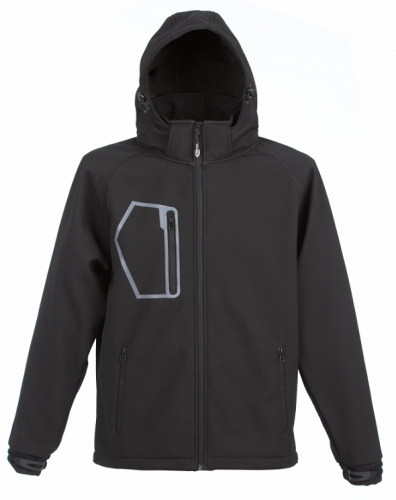 Kurtka softshell z kapturem James Ross Bolzano czarna.png