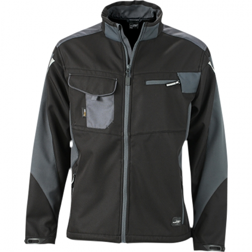 Kurtka robocza softshell James Nicholson Workwear Black Carbon.png