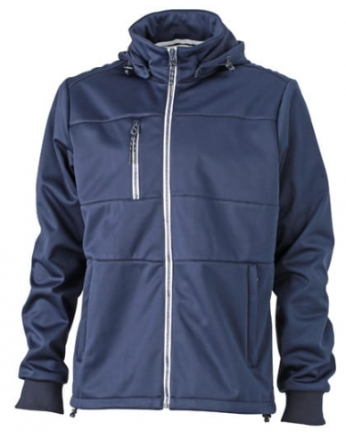 Męski Softshell James Nicholson Maritime Jacket JN1078 Navy Navy White.jpg
