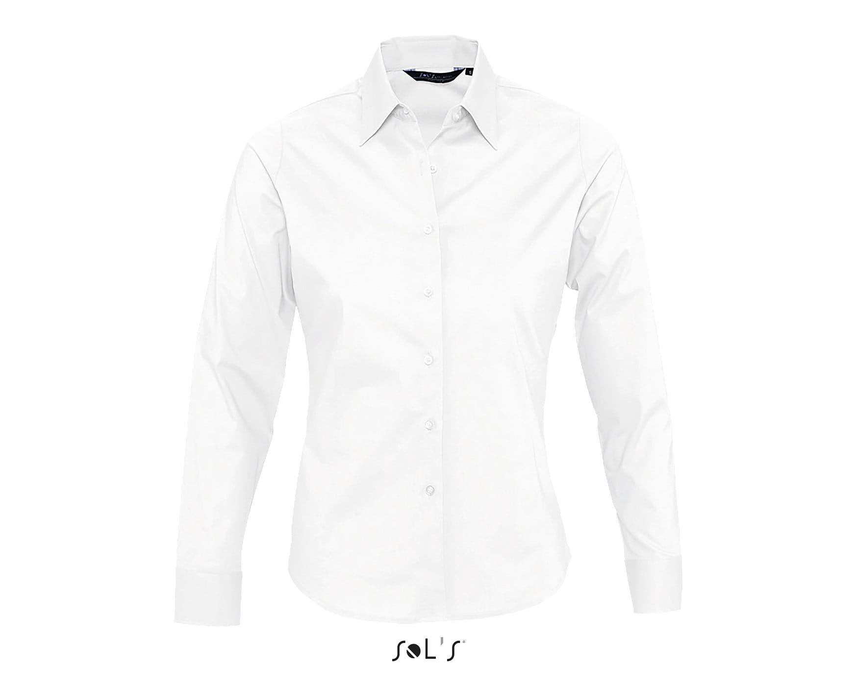 846f11f017 Koszula damska dopasowana z długim rękawem Sol s Eden Odzież firmowa ...